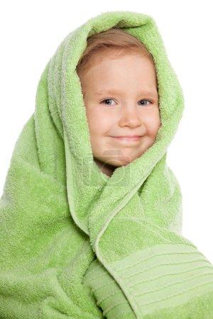 Child in bath towel