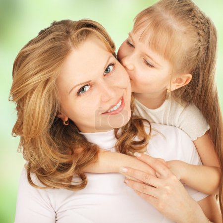 Photo for Mother with daughter isolated on white - Royalty Free Image