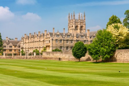 Photo pour Merton College. Oxford University, Oxford, Oxfordshire, Angleterre - image libre de droit