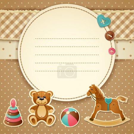 Illustration pour Illustration vectorielle - invitation de baby shower (garçon), eps 10, rgb - image libre de droit
