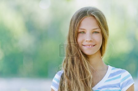 smiling teenage girl