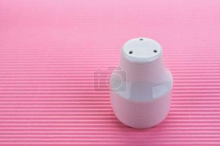 White salt shaker