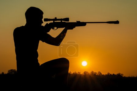 man took aim with your sniper rifle