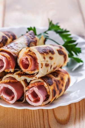 rolls with ham (bacon, sausage)