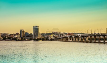 City Dnipropetrovsk and river Dnieper