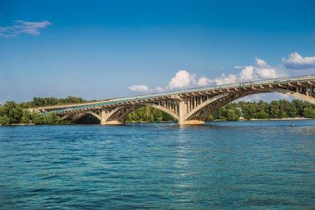 Metro Bridge across Dnipro River in Kyiv