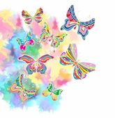 Romantic colorful background with butterfly