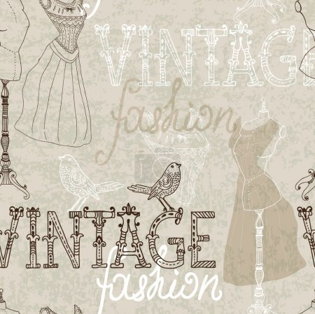 Seamless Vintage background with retro dummy