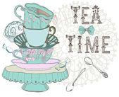 Vintage morning tea time background