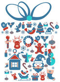 Christmas Gift  with Christmas icons