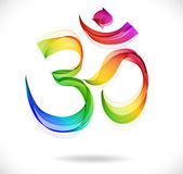 Abstract colorful OM sign over white