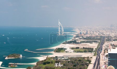 View on Burj Al Arab in Dubai, United Arab Emirates