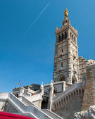 Many peoples every day visit the basilica Notre-Dame de la Garde, Marseille, France