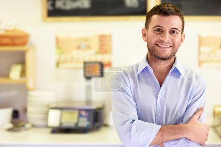 Photo for Young man in a store - Royalty Free Image