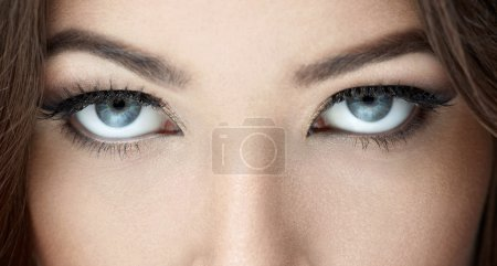 Photo for Beautiful blue eyes close-up - Royalty Free Image