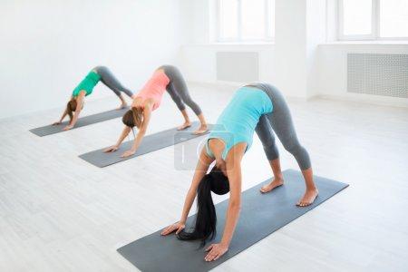 Photo pour Jeune fille en cours de yoga - image libre de droit