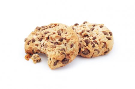 Photo for Chocolate chip cookie, isolated on white - Royalty Free Image