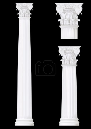 Classic style column set ,vector drawing