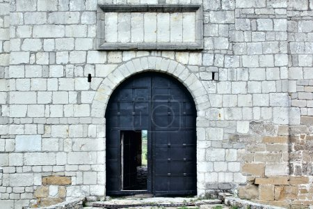 Big iron gates in the castle