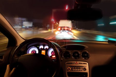 Photo for Very fast driving on the highway - Royalty Free Image