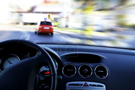 Photo for Very fast driving in the city - Royalty Free Image