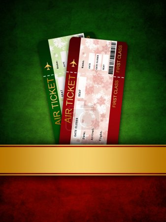 christmas airline boarding pass ticket in pocket