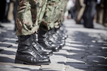Army parade - boots close-up...