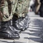 Army parade - boots close-up...