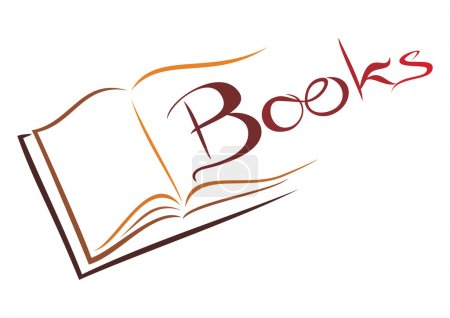 Illustration for Illustration of open book isolated on white - Royalty Free Image