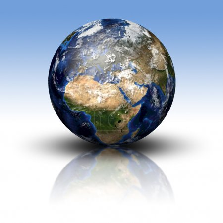 3D image of planet Earth
