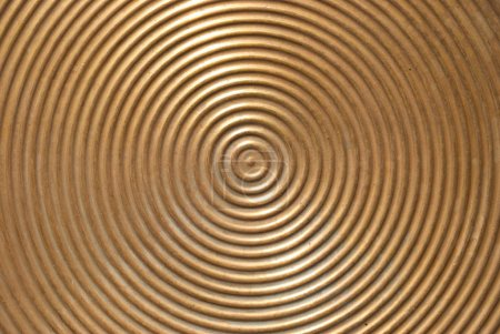 Abstract circle metal plate.