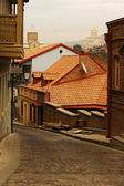 View of traditional narrow streets of Old Tbilisi, Republic of G