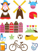 Netherlands icons - vector set