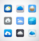 Transfer files cloud computing app vector icons