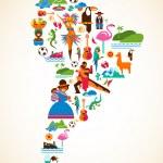 South America love - concept illustration...