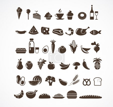 Food icons and elements