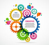 Abstract colorful background design with text space