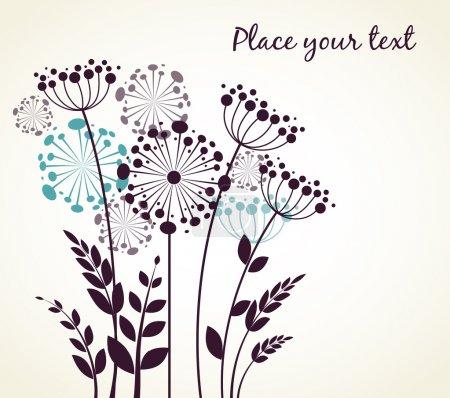 Illustration for Dandelions flowers. Vector illustration - Royalty Free Image