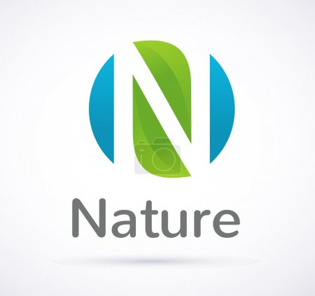 Illustration for Vector green Nature icon and symbol - Royalty Free Image