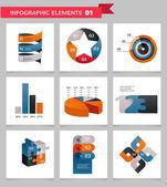 Prvky a ikony infografika