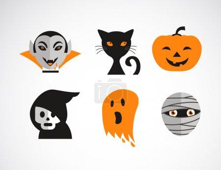 Happy Halloween vector set