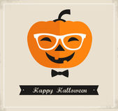 Happy Hipster Halloween background and greeting card