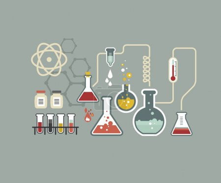 Illustration for Chemistry infographic set - Royalty Free Image