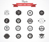 Hipster lables badges and elements