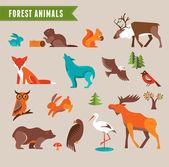 Gli animali della foresta vector set