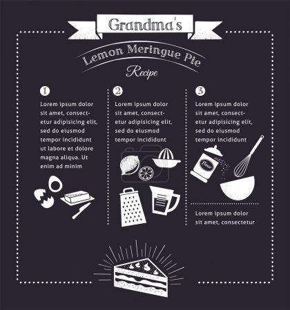 Chalkboard meal recipe template vector design