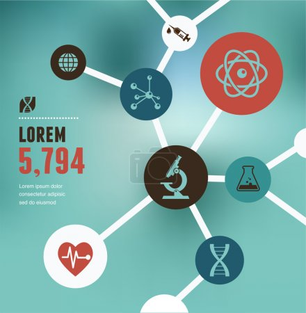 Illustration for Research, Bio Technology and Science, Chemical laboratory infographic - Royalty Free Image