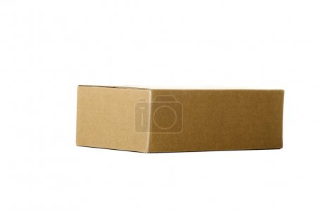 Photo for Cardboard box isoalted on white - Royalty Free Image