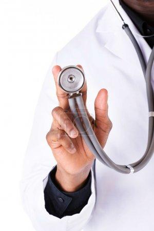 Stethoscope closeup.