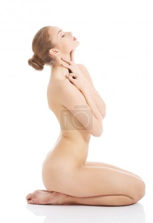 Naked woman with fresh clean skin.